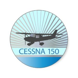 Cessna 150 Airplane Round Sticker