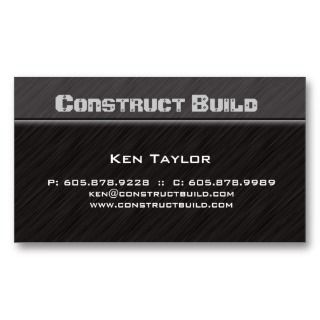 Construction Contractor Business Card Metal 4