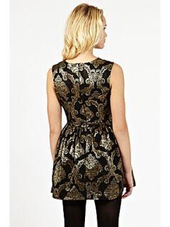 Oasis Baroque jacquard dress Multi Coloured