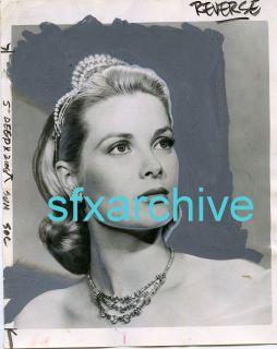 Vintage 1961 Monaco Princess Grace Kelly Beautiful Glamour Headshot