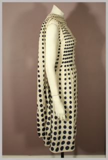 Vintage 50s 60s Navy Blue & White Polka Dot PAULINE TRIGERE Shoulder