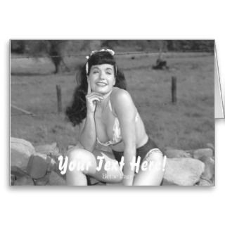 Bettie Page with a Beautiful Smile and Legs Pinup cards by bettiepage