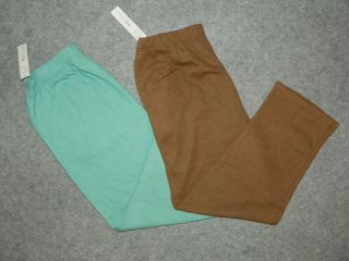 KT Classics Plus Womens Pull on Elastic Waist Knit Pants Size L XL 1x