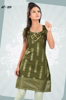 Women Bollywood Style Tunic Kurti Salwar Kameez Indian Kurta Cotton