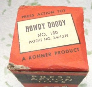 Vintage Kohner Howdy Doody Puppet Push Press Action Toy Box Only