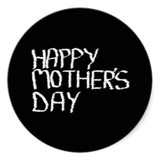 Happy Mothers Day. In Black and White. Sticker