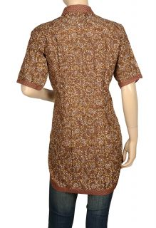Print Shirt Designer Kurta Cotton Bollywood Top Tunic Kurti L