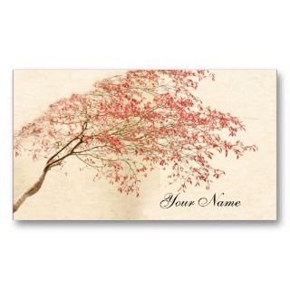 Japanese Maple Business Card