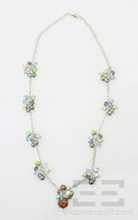 Designer 22 Multicolor Freshwater Pearl Crystal Necklace