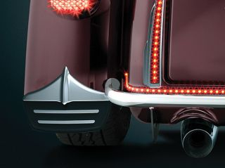 Kuryakyn 7220 Chrome Mud Flaps with Fender Accents for Harley Street