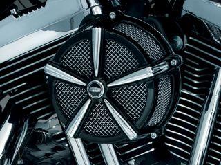 Kuryakyn 9536 Hi Five Mach 2 Black Chrome Air Cleaner Harley 2008 2012