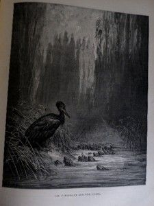 THE FABLES OF LA FONTAINE WITH ILLUSTRATIONS FROM GUSTAVE DORE.