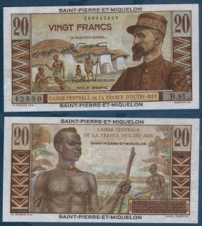 1950 60 Caisse Centrale de La France 20 Francs Gem UNC