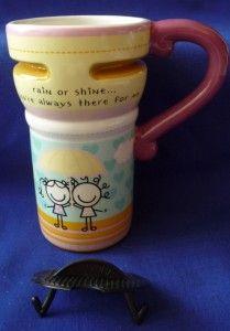 Ganz Tall Travel Coffee Mug Friends Smirk Kyla May Mint