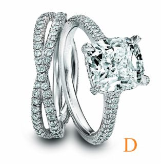 50 Carat Cushion Cut Bridal Set GIA Certified Diamond Match