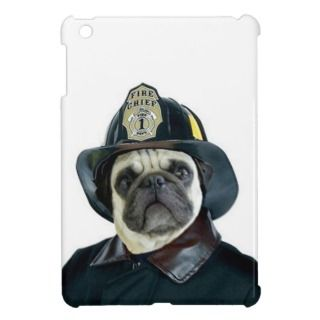 Fireman Pug dog ipad Mini Case