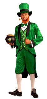 New Green St Patricks Day Leprechaun Costume Hat Jacket Vest Bowtie