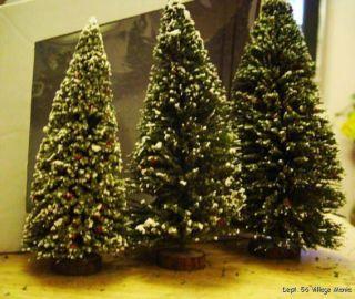 Dept 56 Cedar Pine Large Trees 52606 Set of 3 New in Box