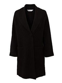 East Boiled wool shawl collar coat Black   House of Fraser