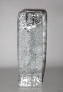Blenko Glass Ice Block Candle Holder Candlestick Label 1980s