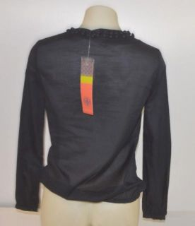 Tory Burch Size 4 Navy Ksenia Uniform Tunic Shirt 14121112