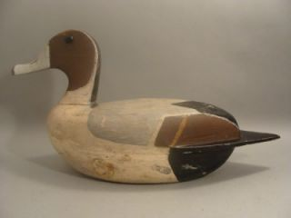 River Pintail Duck Decoy ORG Henry Walker Lacon IL C 1940