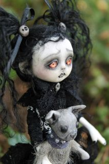 OOAK Gothic Fairy Tale Monster Dorothy Posable Art Doll A Gibbons Goth