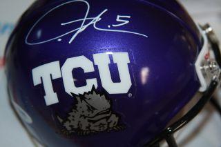 LaDainian Tomlinson Autographed TCU Mini Helmet San Diego Chargers PSA