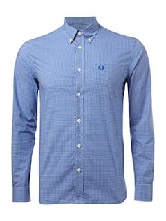 Fred Perry Long sleeved gingham shirt Blue