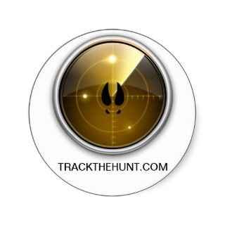 TRACKTHEHUNT   Green Radar & Deer Tracks Sticker