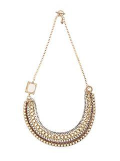 Martine Wester Gypsy Queen Chain Bib Statement Necklace