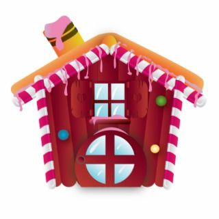 candy house acrylic cut out