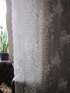 Victorian Design c1910 Cream Lace Curtain Panel Kyle 2 1M 84
