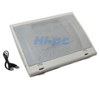 Fan Notebook Cooling Cooler Stand Pad for 10 15.6 inch Laptop Silver