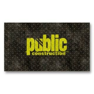 Metal Construction Business Card