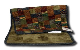 Patchwork Quilt Green Brown Lakeside Country Rustic Table Runner NEW