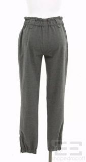 Agence Grey Flannel Cinched Ankle Pants Size 2 New
