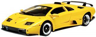Lamborghini Diablo GT Diecast Model Car Yellow 1 18 Scale Motormax