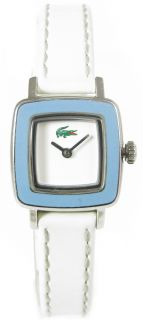 Ladies Lacoste Swing Watch White Leather Strap