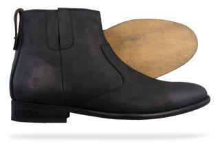 Lambretta Plain Boot Mens Chelsea Ankle Boots M385 Black All Sizes