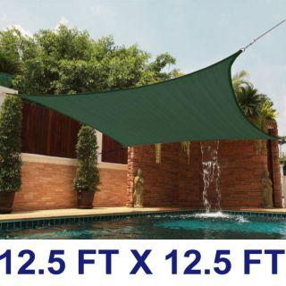 12 Feet Square Heavy Duty Sun Shade Canopy Sail Patio Outdoor Cover