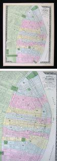 1872 Missouri Map St Louis City Plan Saint Mississippi River Fair
