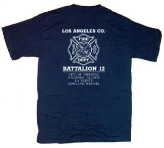 Los Angeles County Fire Dept Battalion 12 T Shirt M