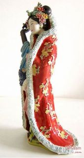 Song Dynasty Concubine Woman   Shiwan Chinese Ceramic Lady Figurine