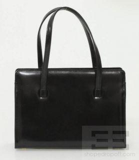 LAMBERTSON Truex Black Leather Frame Small Handbag