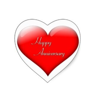 Happy Anniversary Heart Sticker