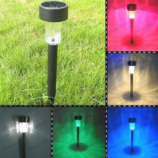 Changing LED Solar Power Outdoor Yard Path Garden Landscape Lamp Light