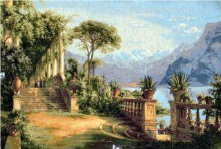 Lake Como Belgian Cote DAzur Tapestry Mediterranean