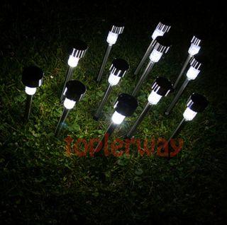 10pcs Outdoor Garden Stainless Steel LED Solar Landscape Spot Light