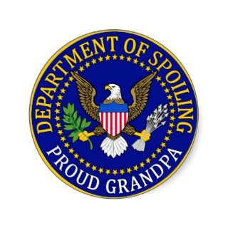 Department of Spoiling   Proud Grandpa Round Sticker